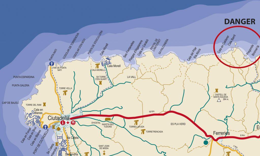 Mapa Ciutadella norte