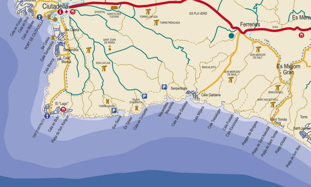 Mapa Ciutadella sur